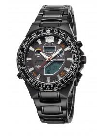 Eco Tech Time Solar Drive Funk Professional Herrenuhr EGS-11319-21M World Timer