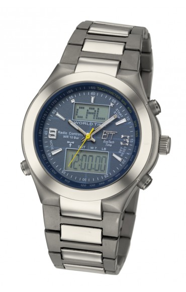 Solar Drive Funk Arctica Titan World Timer Herrenuhr EGT-11099-21M