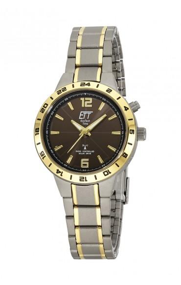 Eco Tech Time Solar Drive Funk Aquanaut II Titan Damenuhr ELT-11338-52M