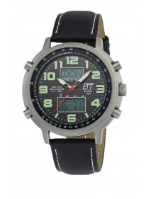 Eco Tech Time Solar Drive Funk Herrenuhr Hunter II EGS-11301-22L World Timer Lichtfunktion