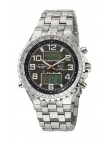 Eco Tech Time Solar Drive Funk Professional  Herrenuhr EGS-11328-81M, World Timer