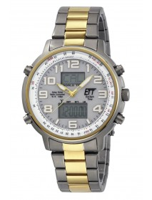 Eco Tech Time Solar Drive Funk Hunter II Herrenuhr EGS-11345-23M World Timer Lichtfunktion
