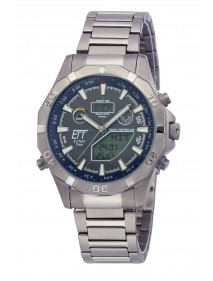 Eco Tech Time Solar Drive Funk Alaska Herrenuhr EGT-11355-50M World Timer Temperaturanzeige