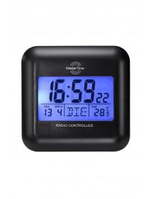 Master Time digitaler Funk Wecker DCF77 mit Alarm, LED-Beleuchtung, Datum mehrsprachig, Kalender, Temperatur, inkl. Batterien