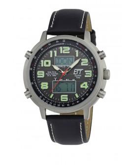 Solar Drive Funk Herrenuhr Hunter II World Timer EGS-11301-21L